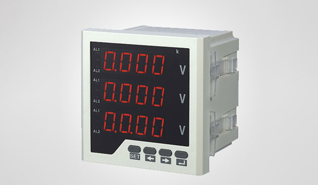 MSX-3U series Digital display three-phase voltmeter